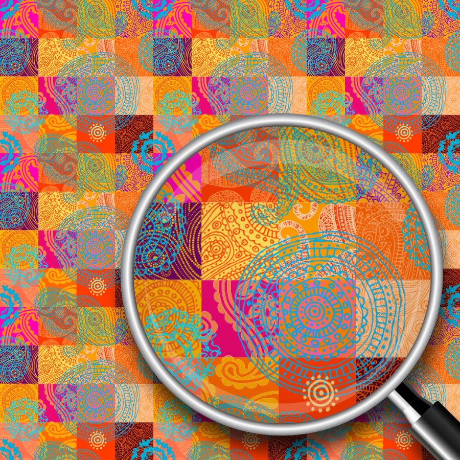Ornamental Patchwork Print