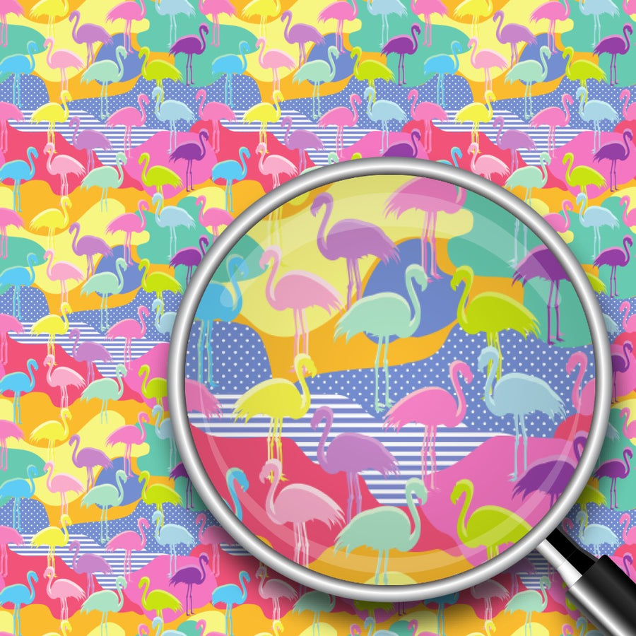 Colorful Flamingos Print