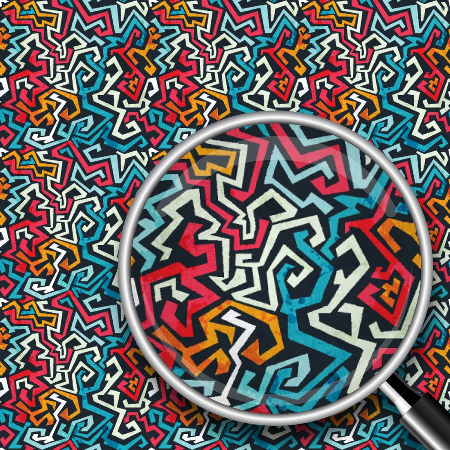 Tribal Graffiti Print