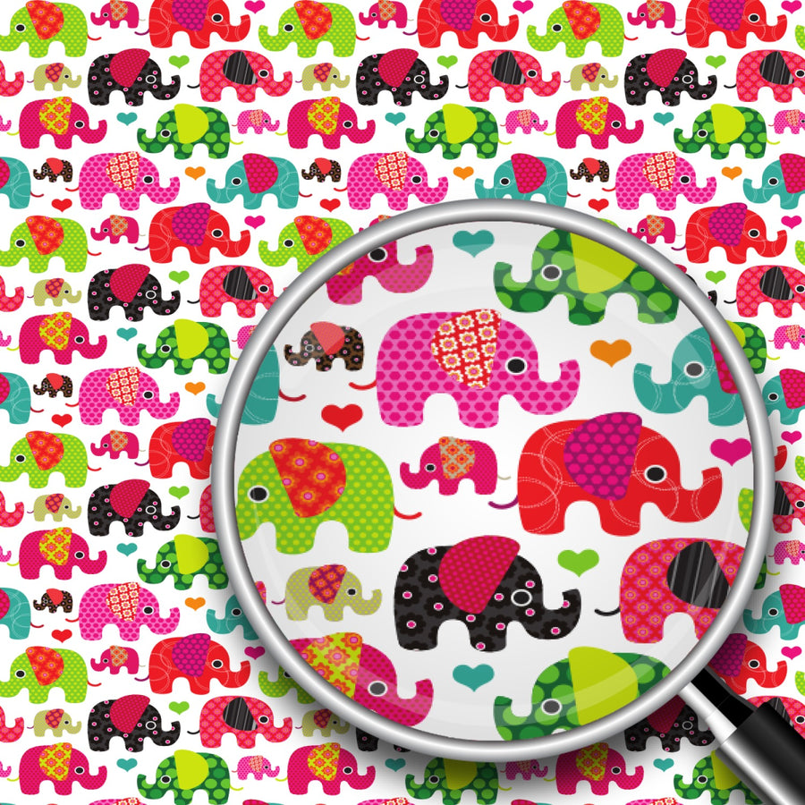 Retro Elephants Print