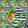Bouquets, Pineapples & Stripes Print