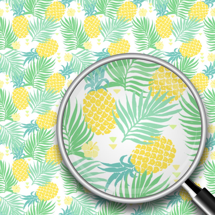 Palm Leaves & Pineapples Print