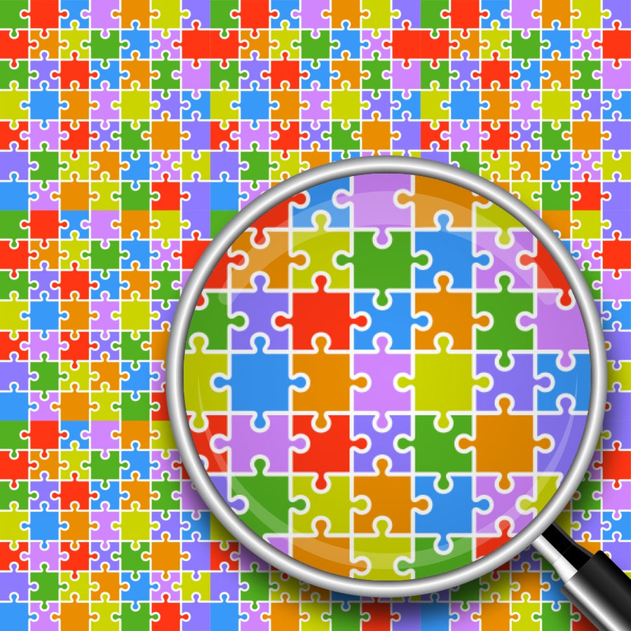 Colorful Puzzle Print 2