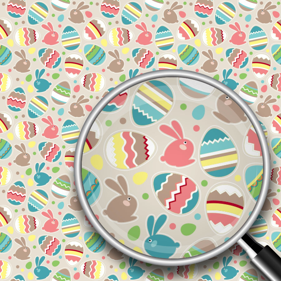 Easter Eggs & Rabbits Print