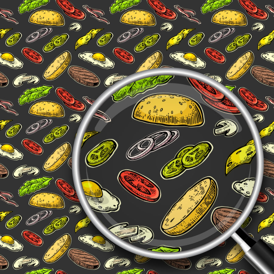 Hamburger Ingredients Print