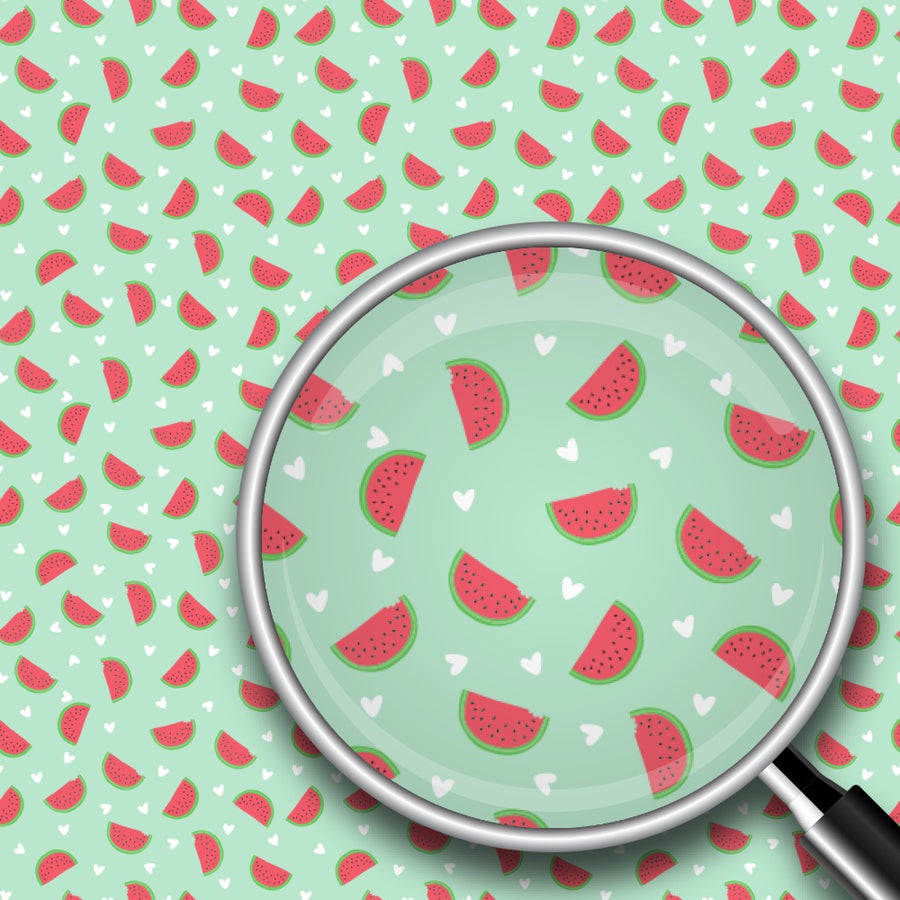 Hearts & Watermelon Print