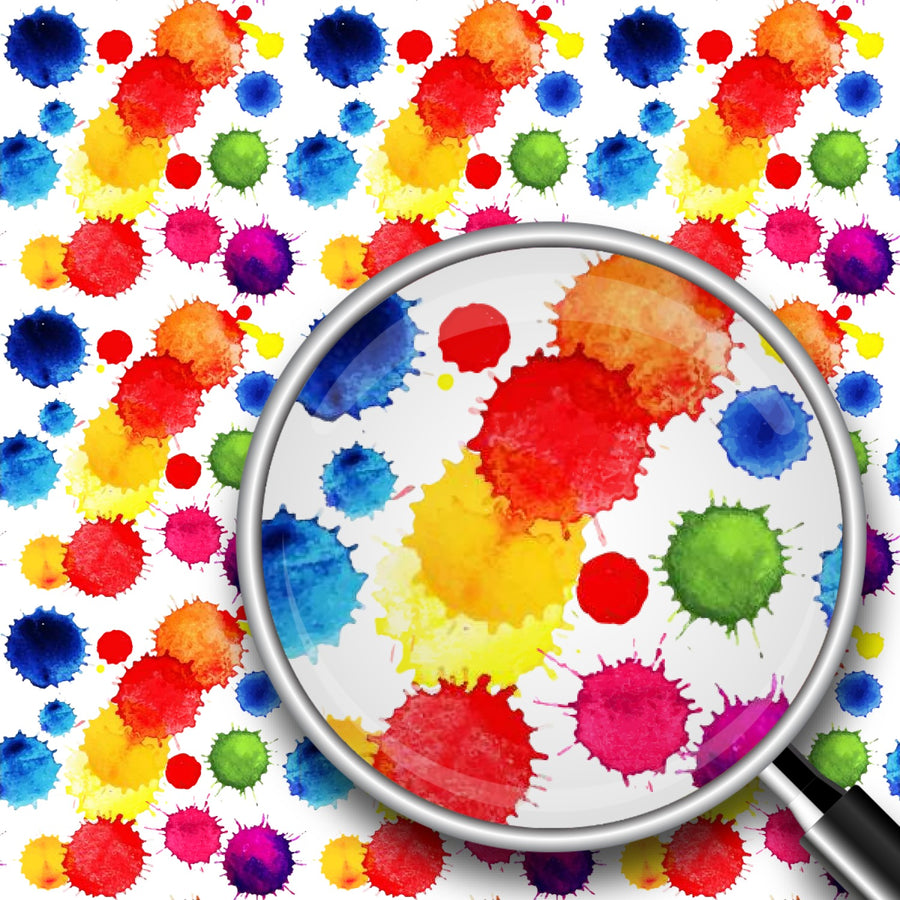 Watercolor Paint Splatter Print