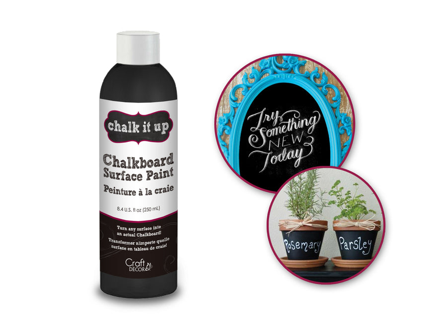 Craft Décor 250ml Chalkboard Surface Paint