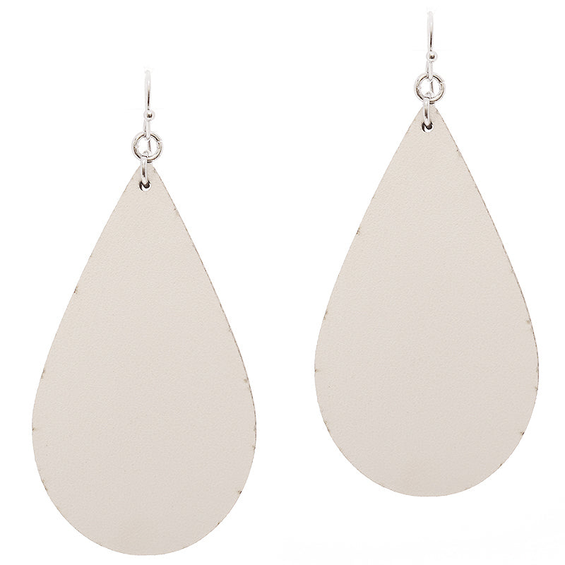 Leatherette Teardrop Earrings