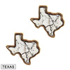 Marble Print Lone Star State Earrings