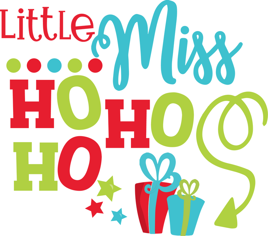 Little Miss Ho Ho Ho HTV Transfer