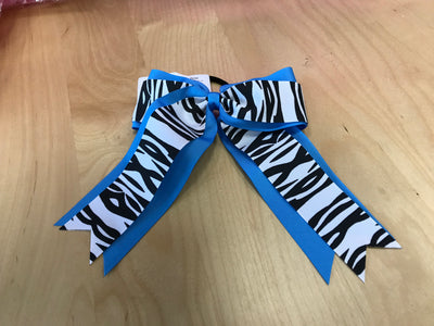 2-Layer Zebra Cheer Bow