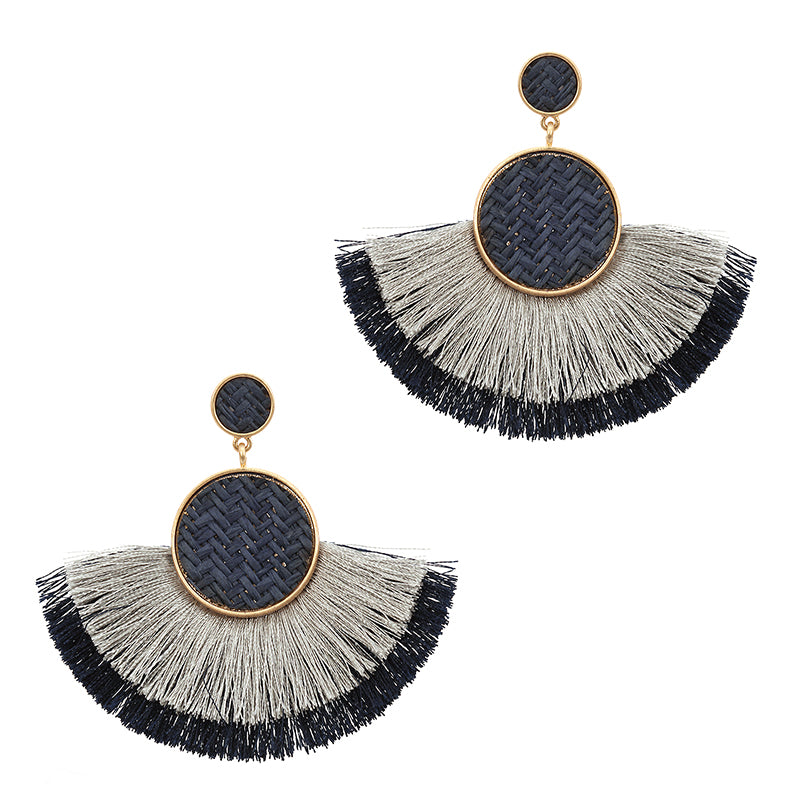 Fringe Tassel Hoop Earrings