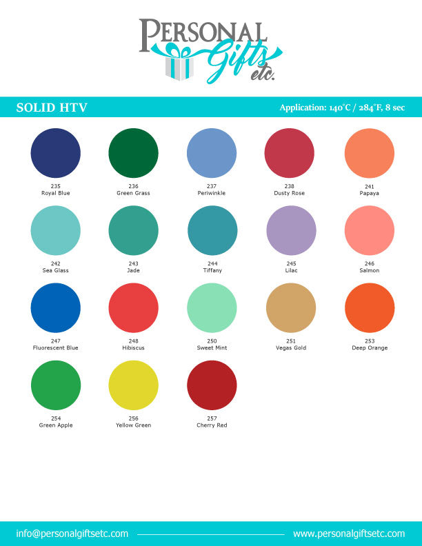 *HTV Solid Color Card