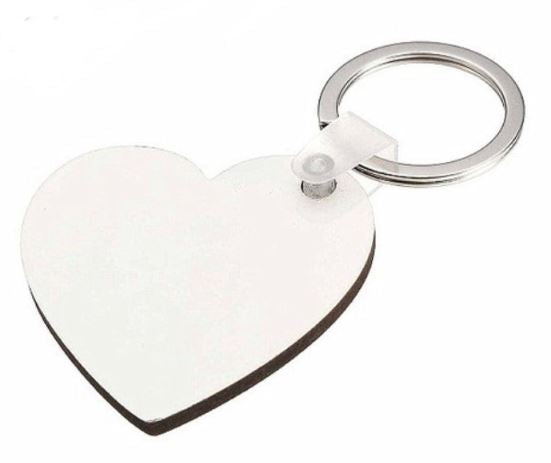 Sublimation Heart Keychain