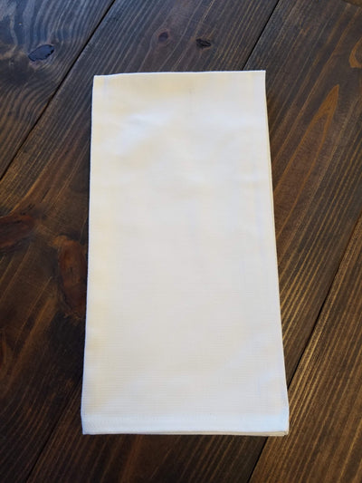 White Huck Kitchen Towel