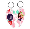 Sublimation Split Heart Key Tags