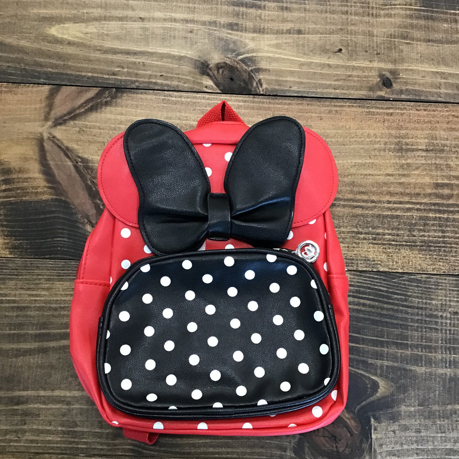 Small Backpack with Mouse Ears and Bow