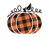 Plaid Pumpkin HTV Transfer