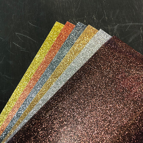HTV-Heat Transfer Vinyl-Precious Metals Glitter 5-Sheet Bundle