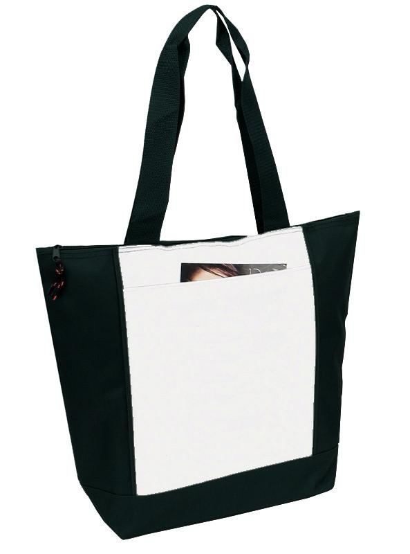 Polyester Deluxe Zipper Tote Bag