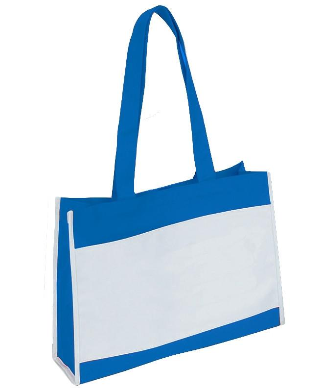 Polyester Travel Tote Bag with Hook and Loop Closure