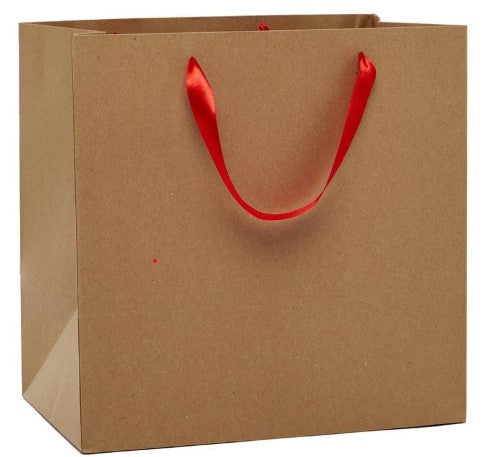 Kraft Euro Tote with Ribbon Handle