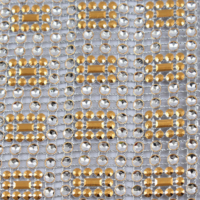 Square Rhinestone Mesh Ribbon-10 YARD BOLT