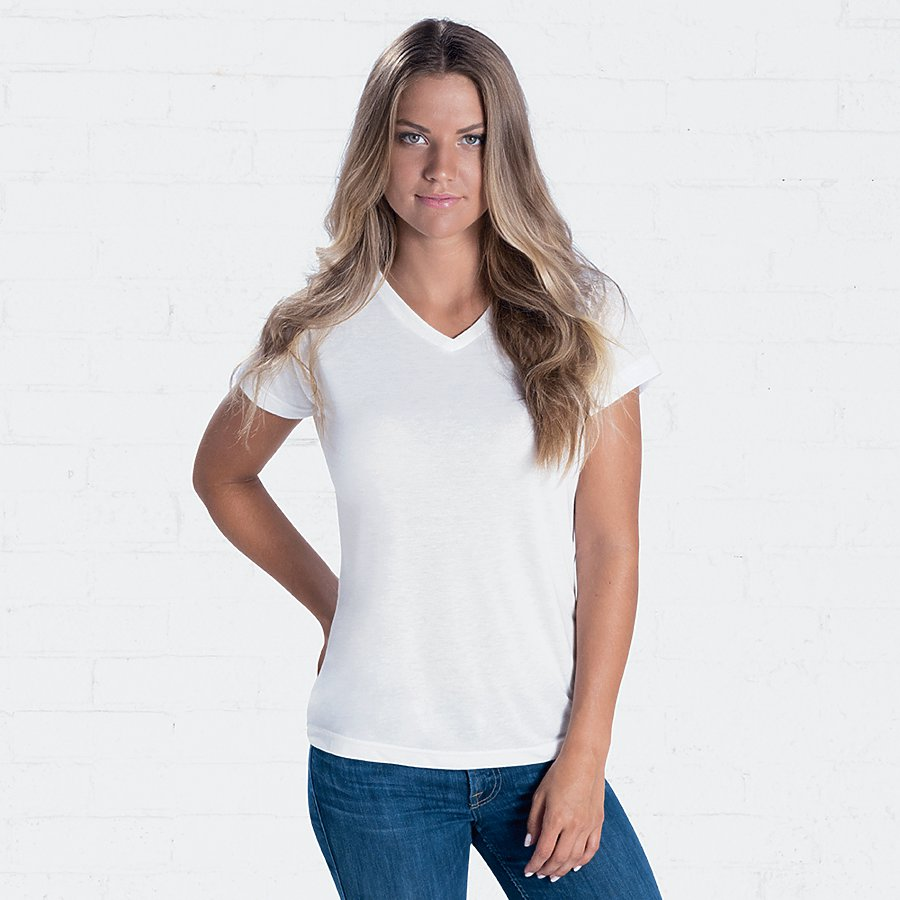 LAT LADIES V-NECK SUBLIMATION TEE