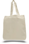 Blank Cotton Tote Bag with Gusset