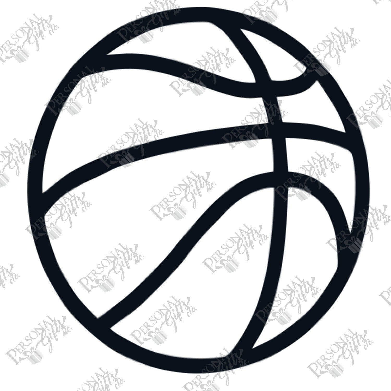 Sub Basketball Outline Personal Gifts Etc Check out our basketball outline selection for the very best in unique or custom, handmade pieces from our shops. sub basketball outline