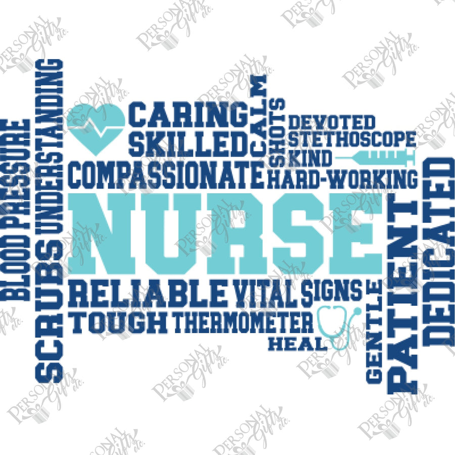 SUB- Nurse Word Art