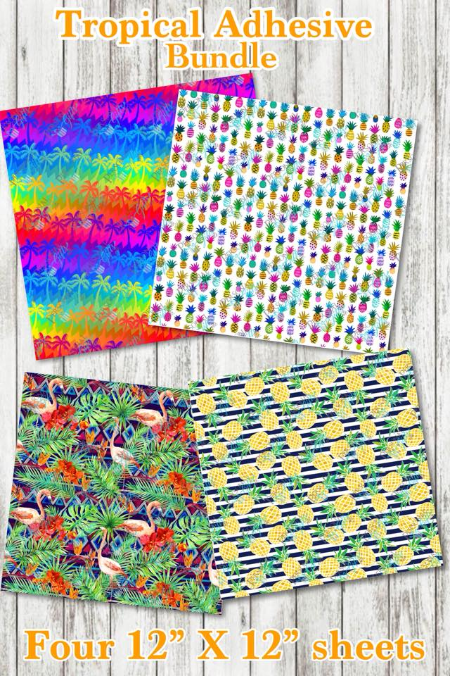 ADH-Printed Adhesive-Tropical #1-Bundle