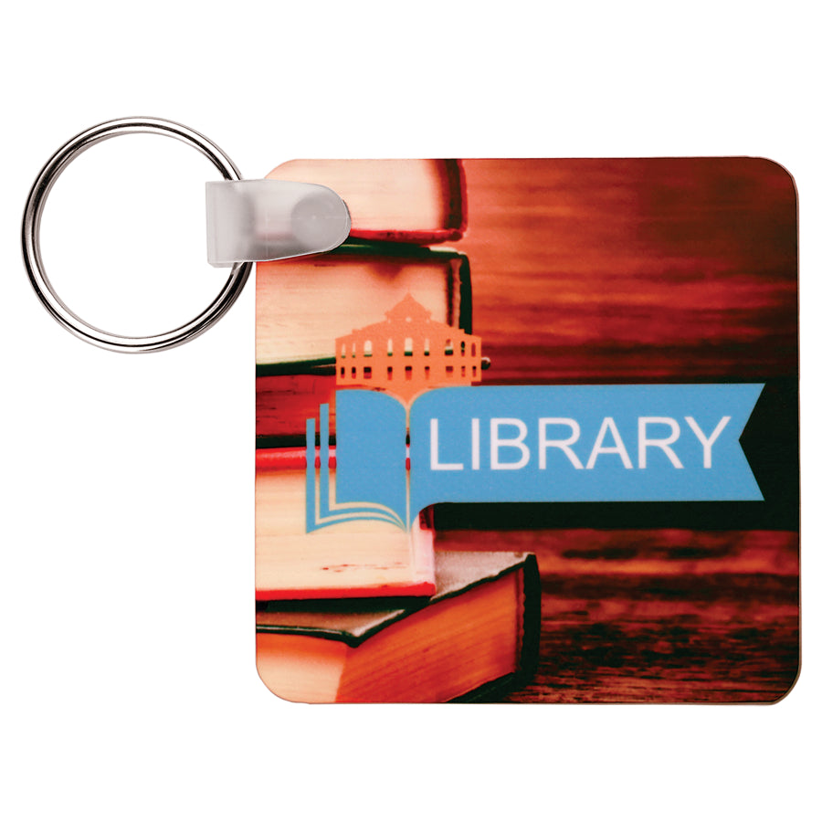 "2.25"" x 2.25"" Sublimatable Square 2-Sided Keychain"