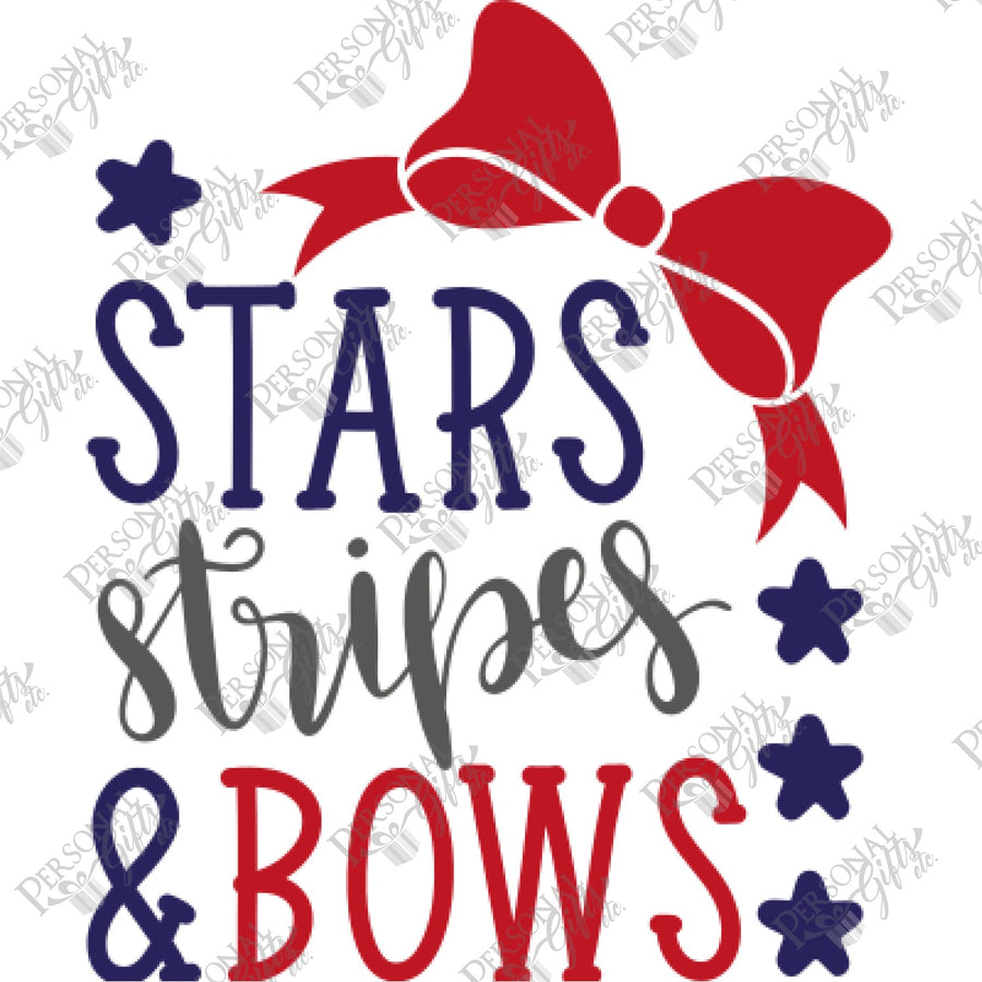HTV- Stars, Stripes, & Bows