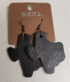 Leatherette Rounded Texas Earrings