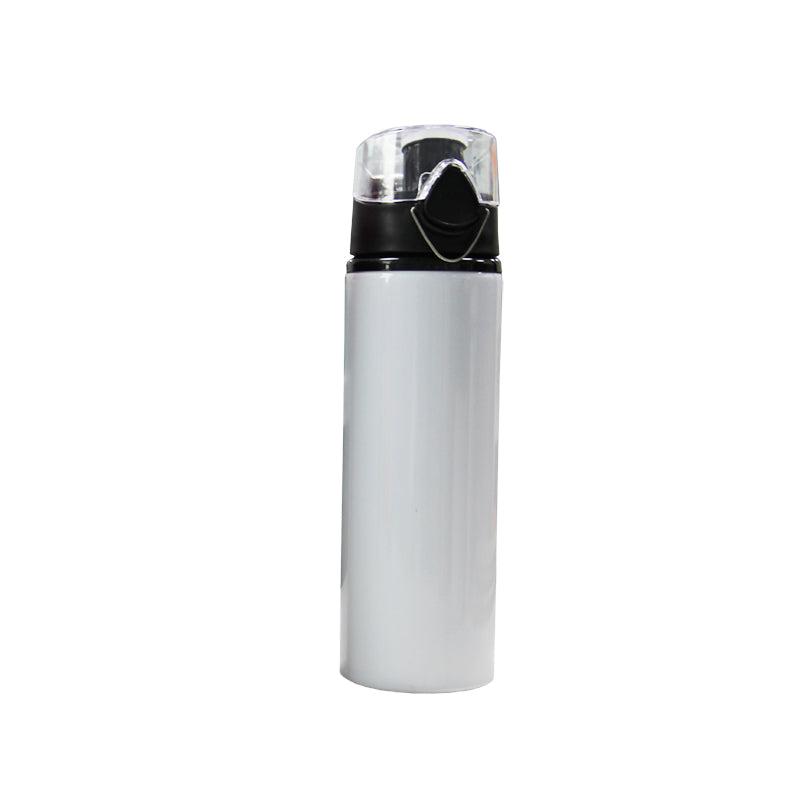 Wide Mouth Sublimation Aluminum Sports Water Bottle With Pop Lid
