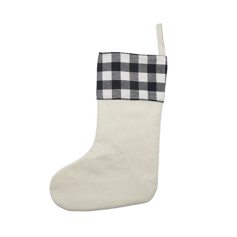 Sublimation Blank Plaid Christmas Stocking