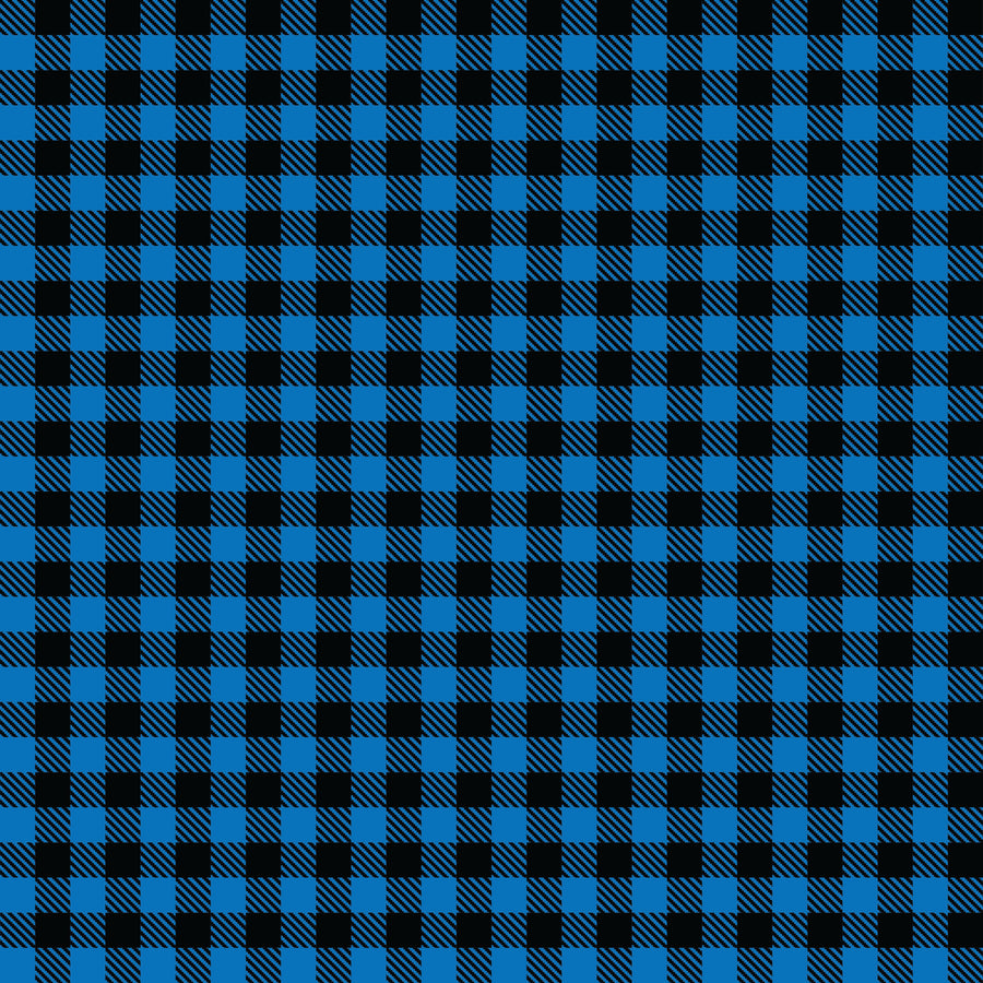 Buffalo Plaid Blue/Black