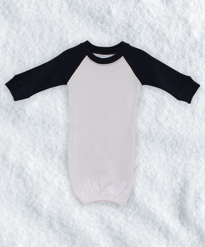 Long Sleeve Raglan Baby Gown