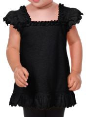 Infant/Toddler Ruffle U Neck Flutter Sleeve Top