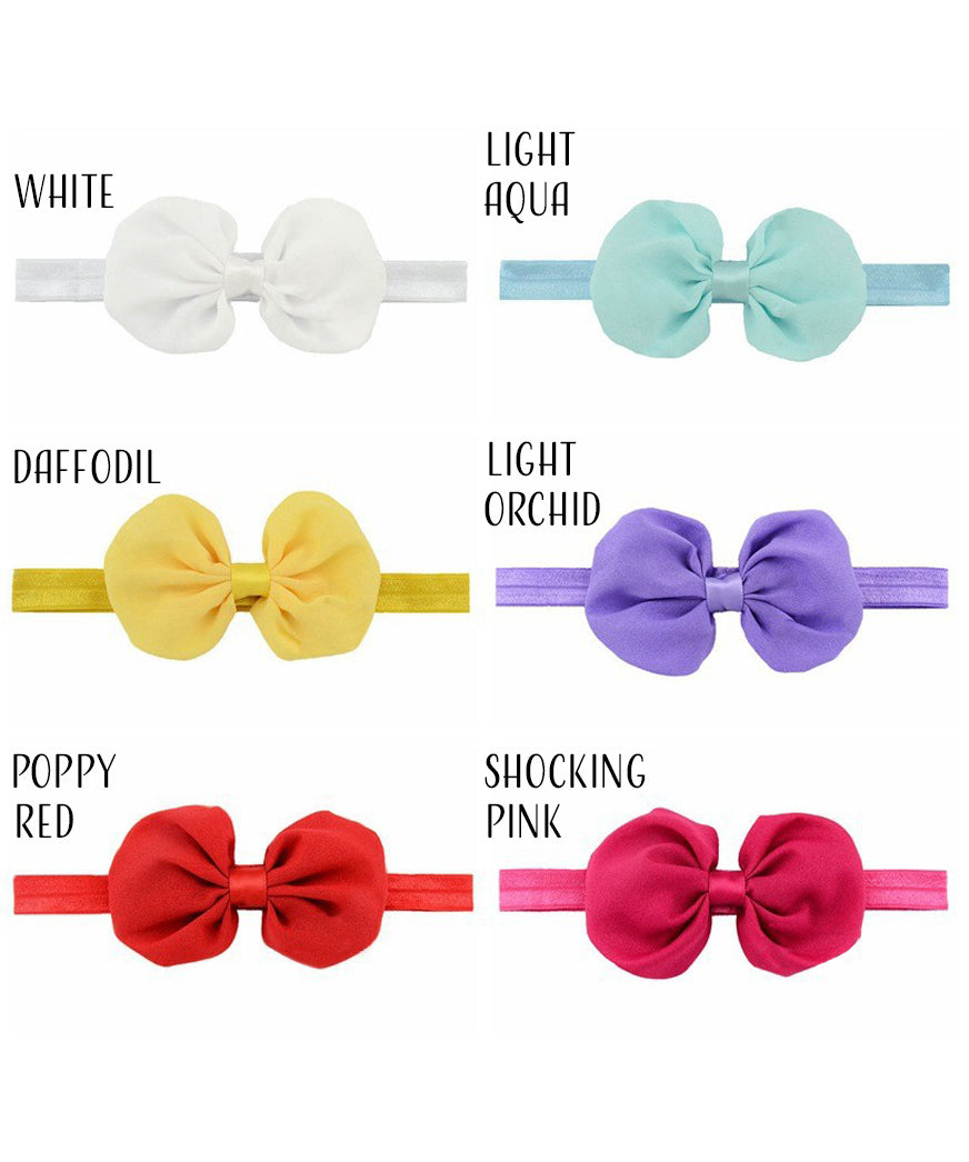 "4"" Chiffon Bow on Headband"
