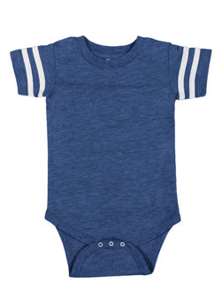 Personalize Football Onesie, Blue Blank