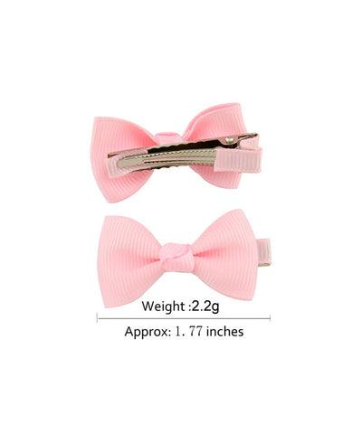 "2"" Mini Ribbon Bows on Clips-1659/Set"