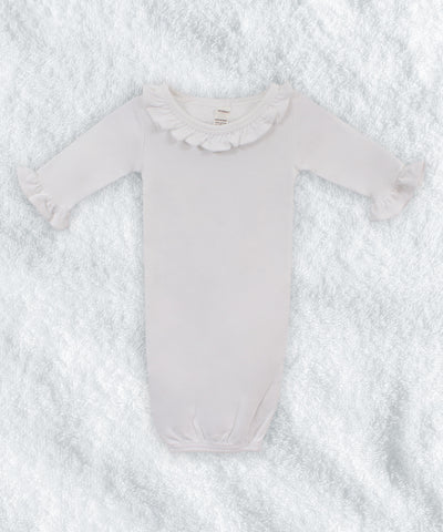 Long Sleeve Ruffle Baby Gown