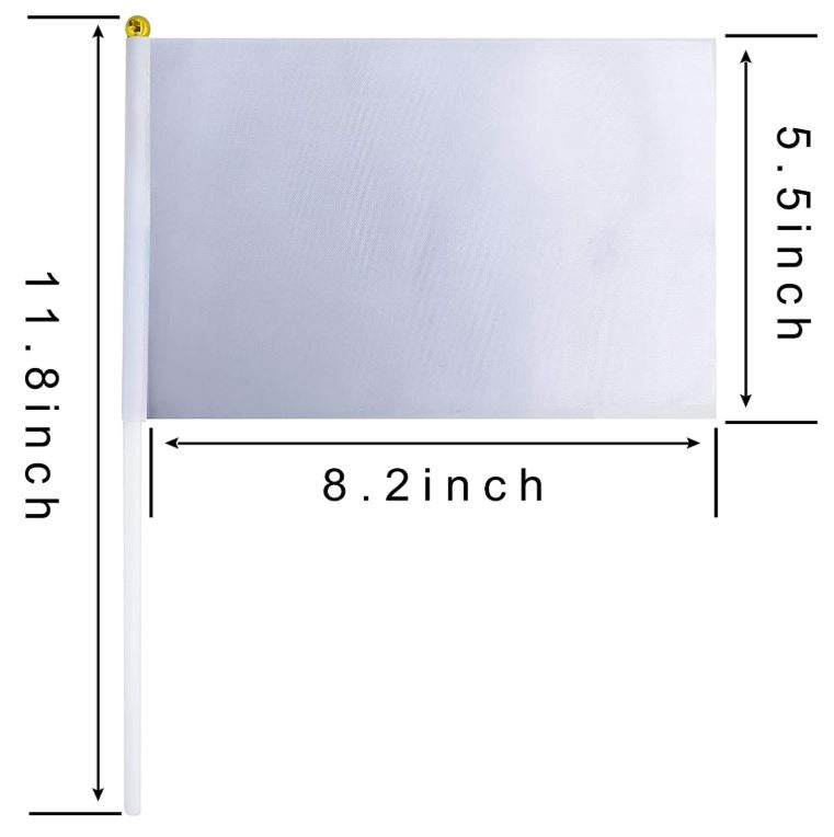 Sublimation Small White Flag