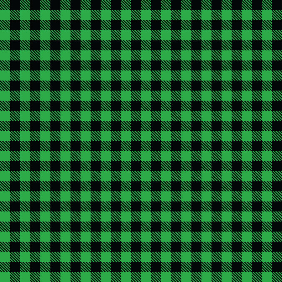 Buffalo Plaid Green/Black