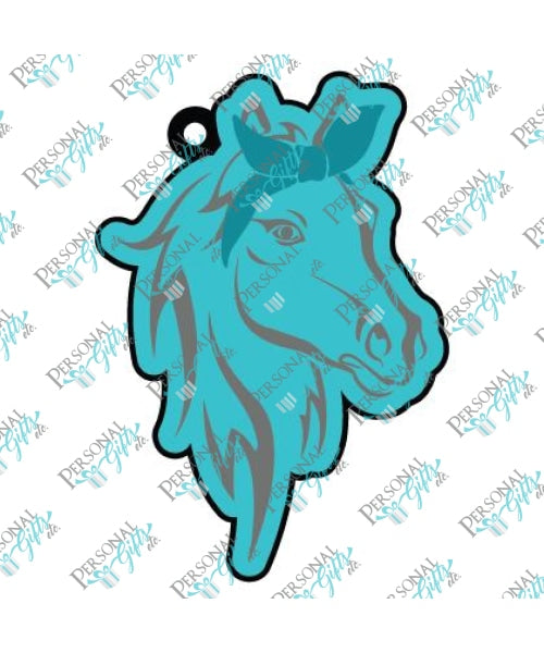 Horse With Bandana Keychain Blanks