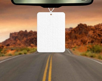 Sublimation Blank Felt Air Freshener - Rectangle