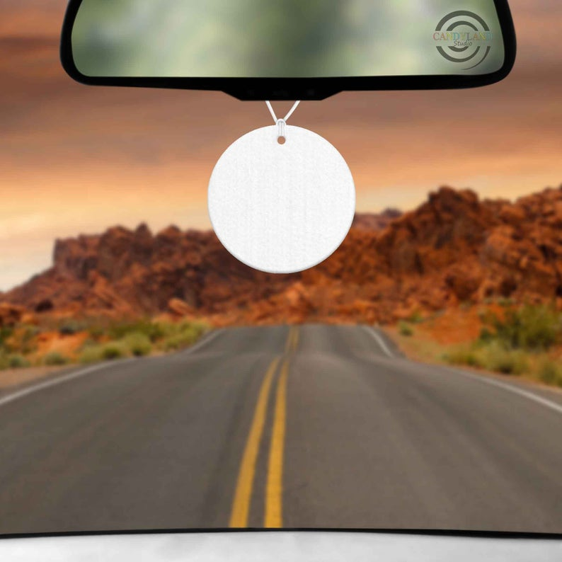 Sublimation Blank Felt Air Freshener - Round